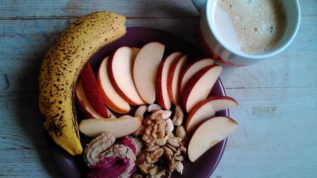 sund mad frugt nødder