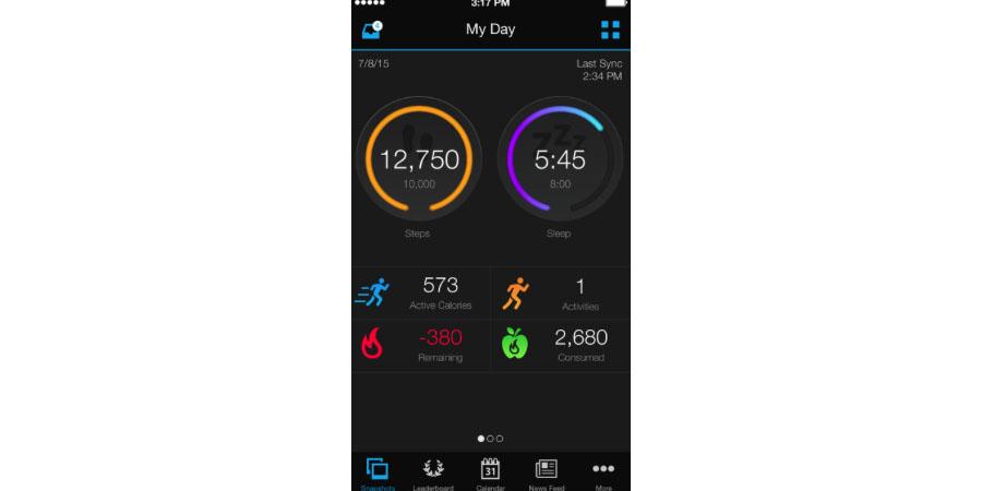 Skærmbillede af Garmin Tracker til iPhone